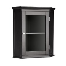 <strong>Elegant Home Fashions</strong> Madison Avenue Dark Corner Wall Cabinet