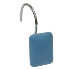 Blue Rectangular Shower Curtain Hooks (Set of 12)