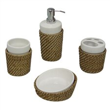 Hana 4-Piece Bath Accessory Set