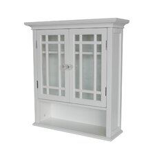 <strong>Elegant Home Fashions</strong> Neal Wall Cabinet with Two Doors and One Shelf