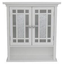 <strong>Elegant Home Fashions</strong> Windsor Wall Cabinet with 2 Doors and 1 Shelf