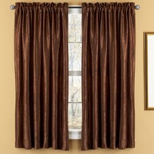<strong>Elegant Home Fashions</strong> Aretha Crushed Rod Pocket Window Curtains Panel (Set of 2)