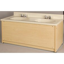 1000 Series Double Bowl Floor Vanity