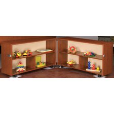 Eco Laminate Toddler Fold-n-Roll Shelf Storage Unit