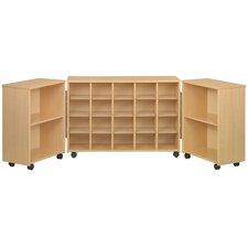 Eco  Preschool Tri Fold 24 Compartment Cubby
