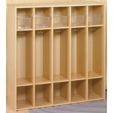 Eco Laminate Preschool Locker with Trays