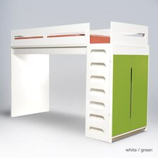 Alex Twin Bunk Bed with Built-In Ladder and Trundle
