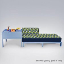 Cube Crash Fabric Chaise Lounge