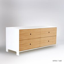 Parker 4 Drawer Low Dresser