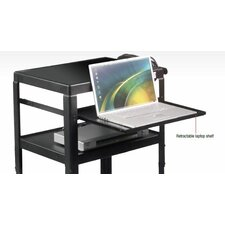 Adjustable Laptop Shelf For Utility Cart
