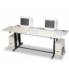 "Split-Level Computer 72"" W x 36"" D Training Table"