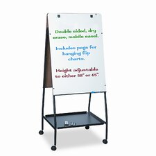 "Best-Rite® Wheasel® Easel Dry 4' 11.5"" x 2' 4.75"" Whiteboard"