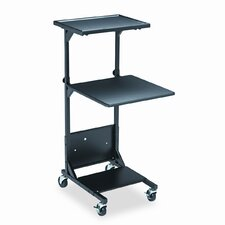Adjustable Projection Stand with Two Shelves