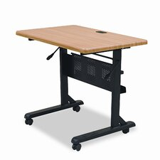 Flipper Training Table, Rectangular, 36w x 24d x 29-1/2h, Teak