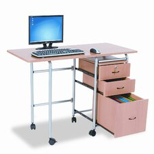 "BALT Fold-N-Stow 41.75"" W x 19.88"" D Workstation Table"