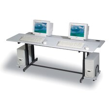 "Split Level Dual Station 72"" W x 36"" D Task Table"