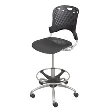 <strong>Balt</strong> Height Adjustable Circulation Drafting Chair with Casters
