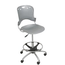 Height Adjustable Circulation Drafting Chair with Casters