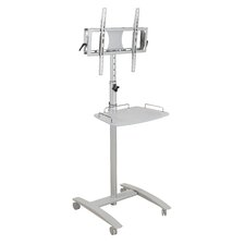 "Lumina 25"" Flat Panel Stand in Brushed Metal"