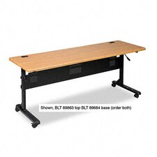 Flipper Training Table Base, 65-1/2w x 23-1/2d x 28-1/4h, Black
