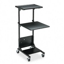 <strong>Balt</strong> Adjustable Projection Stand, Two Shelves, 18 x 20 x 41-1/2 to 47-1/2, Black