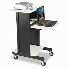 <strong>Balt</strong> Audio Visual Adjustable Presentation Cart, 18 x 30 x 40-1/4, Black