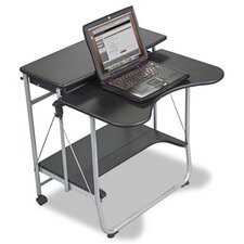 Fold-N-Go Workstation, 27-1/2w x 29-1/2d x 29-1/2h, Black/Silver
