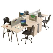 <strong>Balt</strong> IFlex L-Shape Writing Desk Office Suite