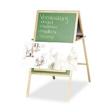 Instructional Easel, Magnetic, Double-sided W/Oak Tray