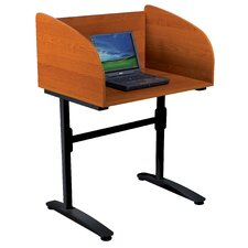 Laminate and Steel Lumina Study Carrel Desk