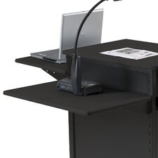 <strong>Balt</strong> Extra Wide Presentation Cart Shelf in Black