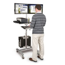 Adjustable Beta Cart 2 Screen Monitor Mount