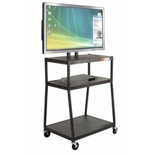 Wide Body Flat Panel TV Cart