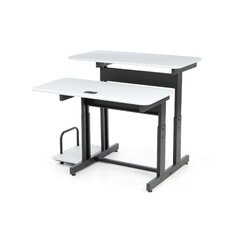 Split-Level Adjustable Computer Table