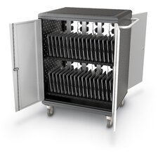 32-Compartment A La Cart Tablet Security and Charging Cart