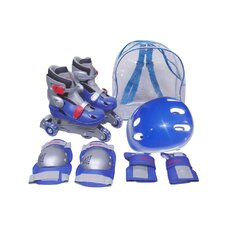 Adjustable Boy's Inline Skates Training Set