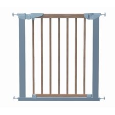 Avantgarde True Pressure Indicator Safety Gate in Silver and Beech