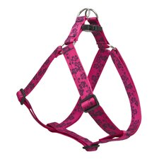 "Plum Blossom 1"" Adjustable Large Dog Step-In Harness"