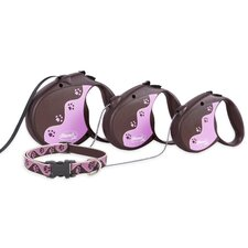 Tickled Pink Flexi Classic Dog Lead