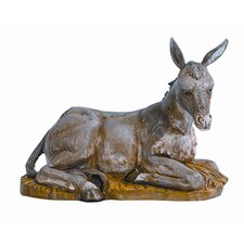 "18"" Scale Seated Donkey Figurine"