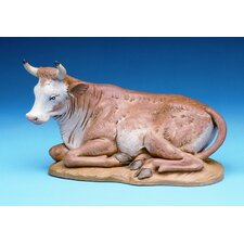 "12"" Scale Seated Ox Nativity Figurine"