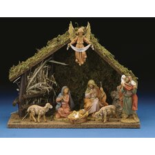 Seven Piece Figurine Set with Italian Stable