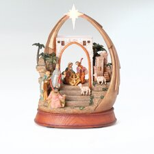 Musical LED Nativity in Arch Figurine