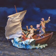 4 Piece Christmas Calming the Sea Nativity Set