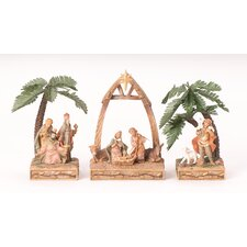 3 Piece Triptych Nativity Set