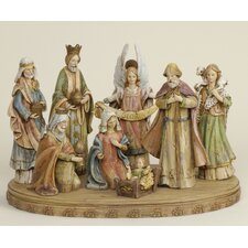 8 Piece Nativity Set With Base