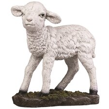 Painted Lamb Nativity Figurine