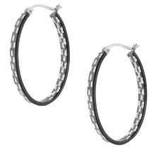 Etched Flat Hoop Earrings