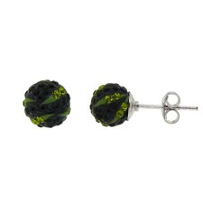 <strong>Moise</strong> Crystal Ball Stud Earrings