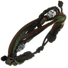 Skull Bead Cord Bracelet